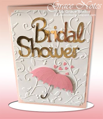 Bridal Shower Card, front. By Grace Baxter