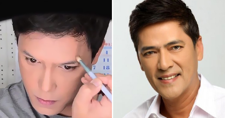 Before and After shots of Paolo's Make-up Transformation as Bossing Vic.