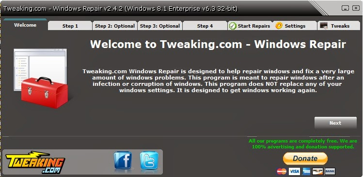 Tweaking.com - Windows Repair 2.4.2 Portable