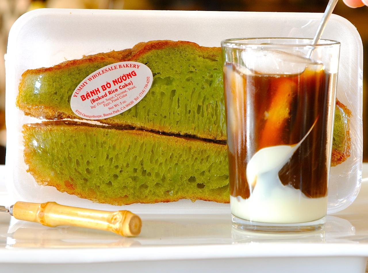 Gluten Free Pandan Honeycomb Cake Recipe