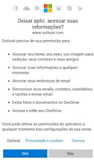 Criar conta Hotmail pelo celular