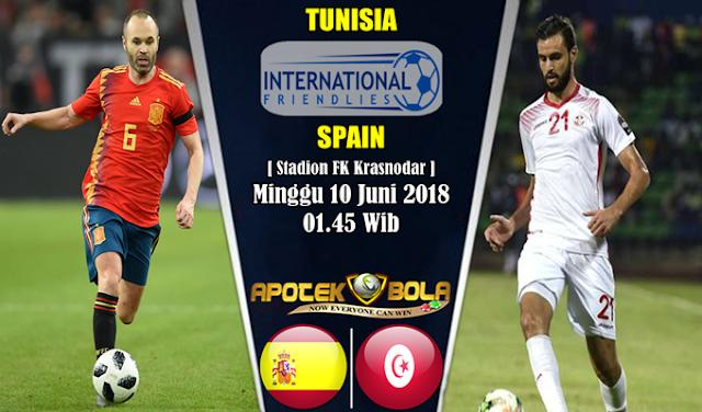 Prediksi Tunisia vs Spain 10 Juni 2018