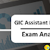 GIC Assistant Manager Exam Analysis 2017-18