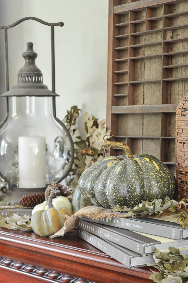 Create a display for autumn decorating.