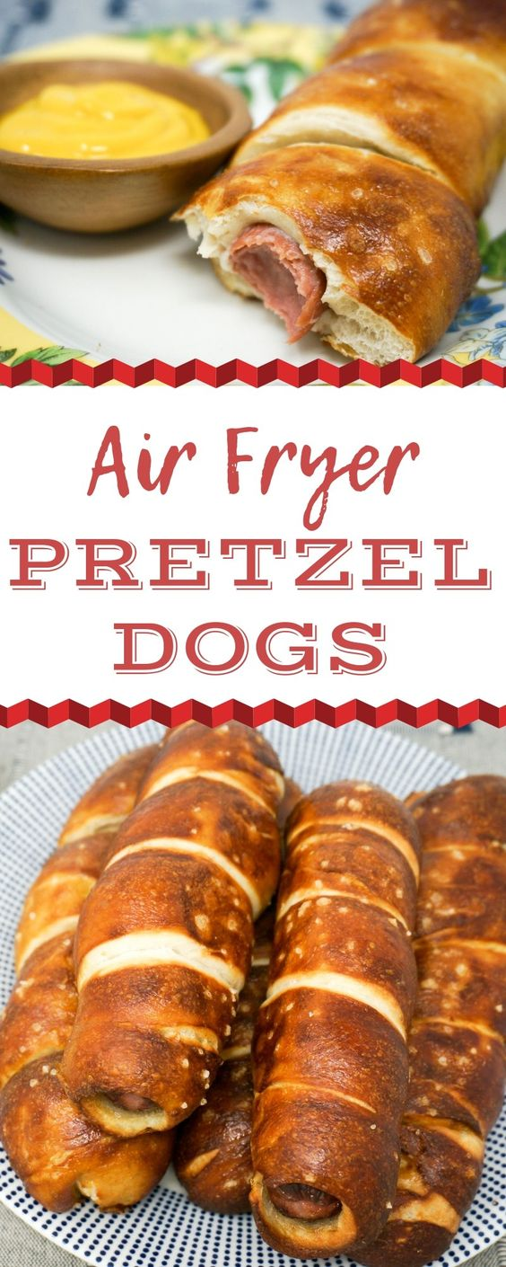 Air Fryer Pretzel Dogs