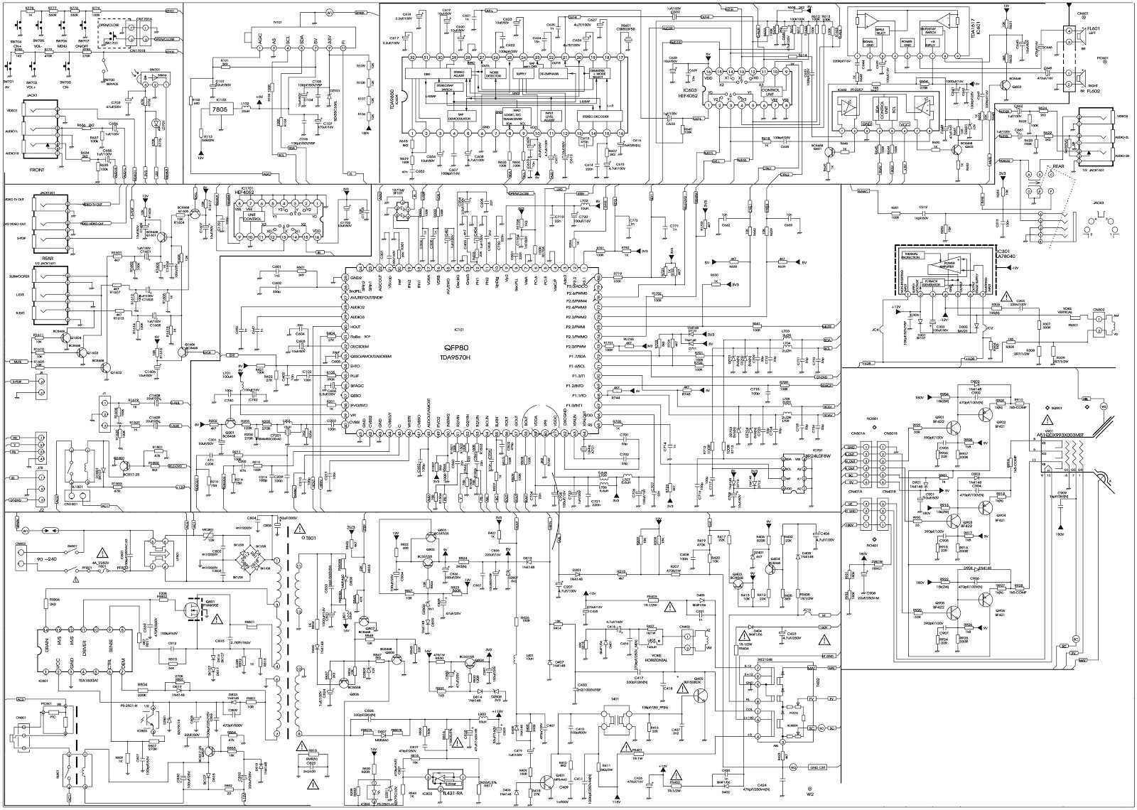 Bluesky Tvd 290fs Tv Dvd Crt Type Circuit Diagram