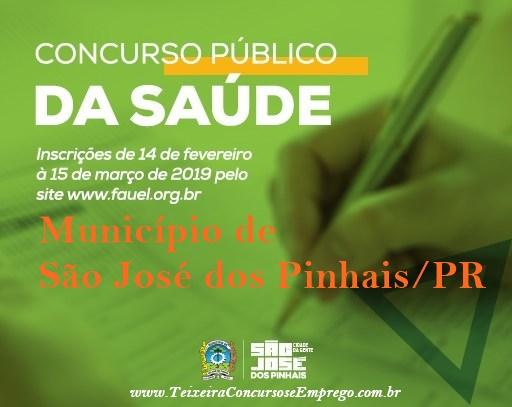 Prefeitura de São José dos Pinhais abre concurso com 31 vagas na Saúde