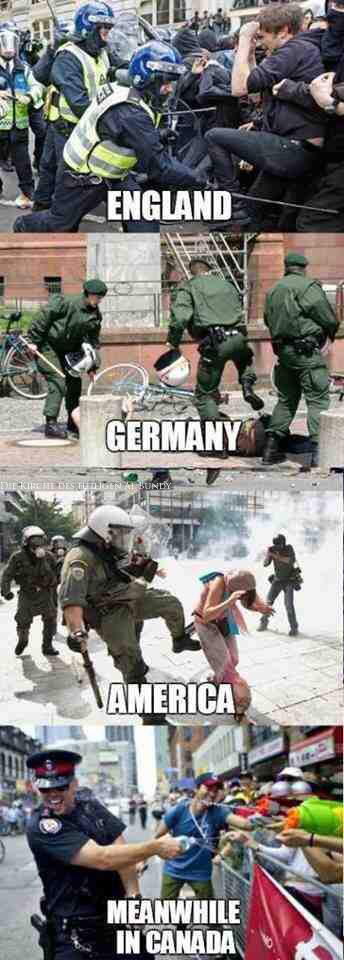 Polizei verprügeln Demonstranten Vergleichsbild - witzige Linke Bilder