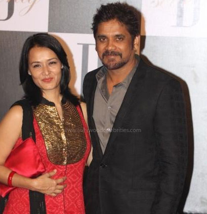 Nagarjuna and his wife: