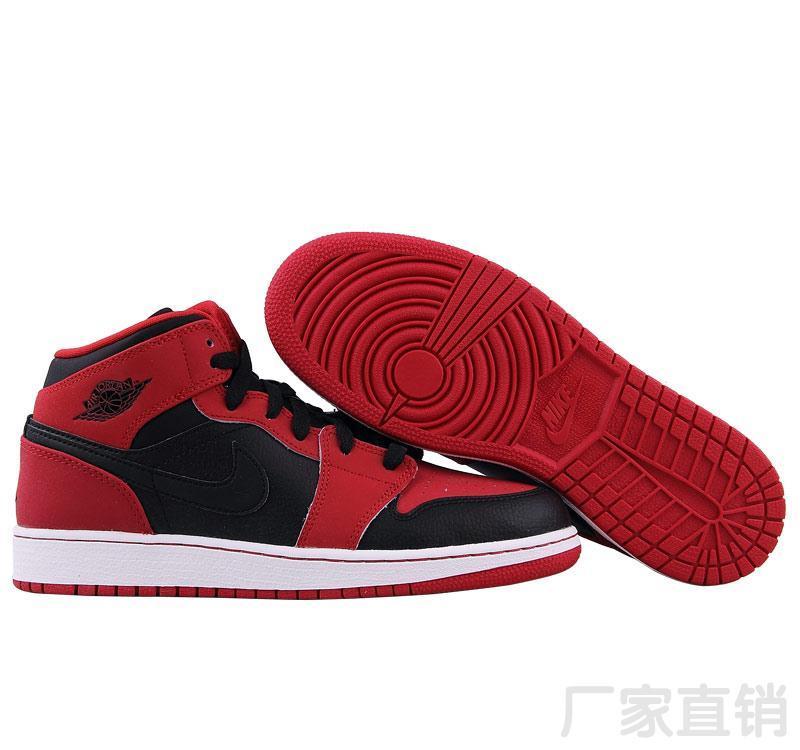 5b237d27c57f ... discount jordan air jordan 1 mid gs aj1 jordan 1 generation of  basketball shoes female black