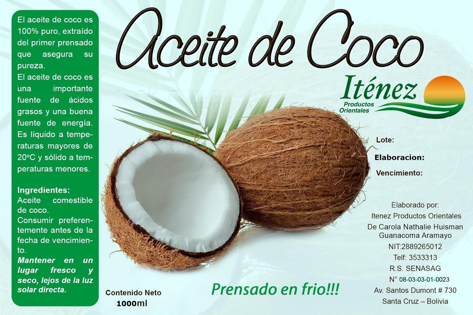 donde consigo aceite de coco comestible