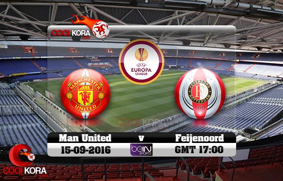 مشاهدة مباراة فينورد روتردام ومانشستر يونايتد اليوم 15-9-2016 في الدوري الأوروبي