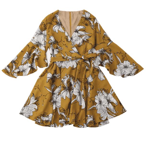 letnia sukienka kopertowa Zaful, sukienki na lato, jak się ubrać latem