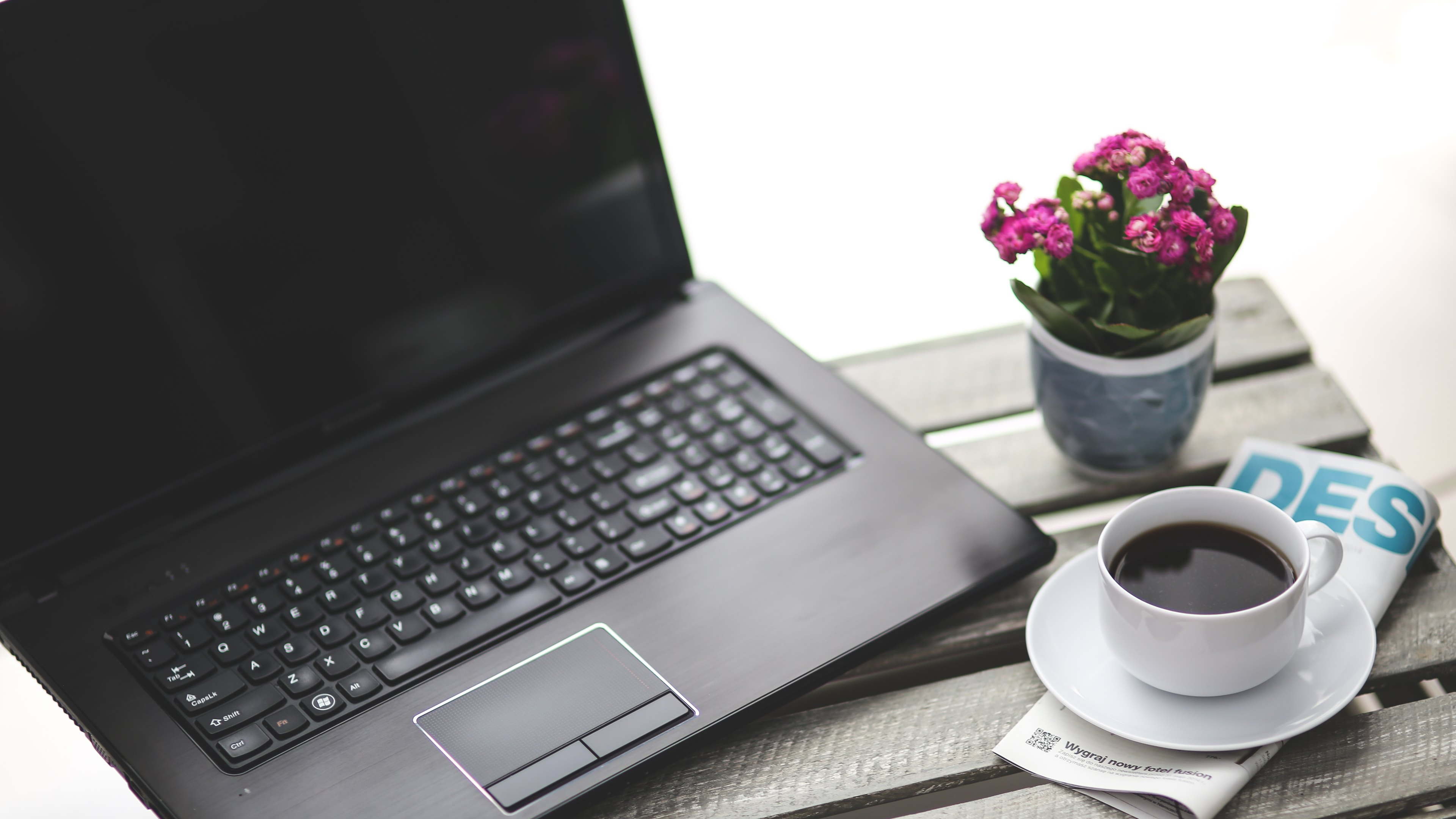 computers notebook and coffee wallpaper hd wallpapers