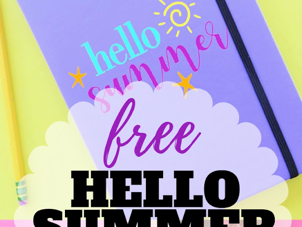 Free Hello Summer Cut File