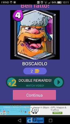 Indovina la carta Royale soluzione livello 34