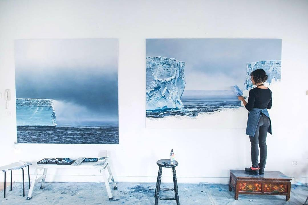 02-Antarctica-Zaria-Forman-Ice-Snow-and-Water-Pastel-Drawings-www-designstack-co