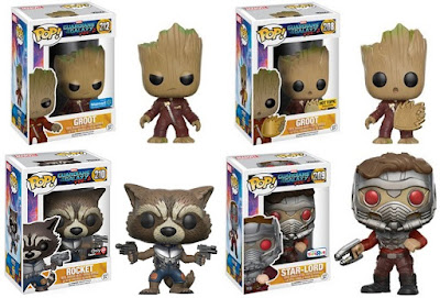 Retailer Exclusive Guardians of the Galaxy Vol 2 Pop! Marvel Variant Figures by Funko