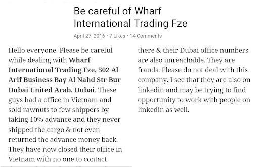 [Unchecked] Wharf International Trading FZE (Dubai)