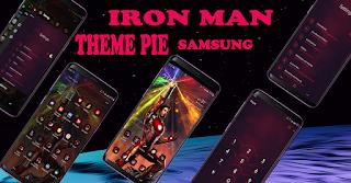 Download Tema Iron Man samsung Pie | Custom Oneui Theme Installer