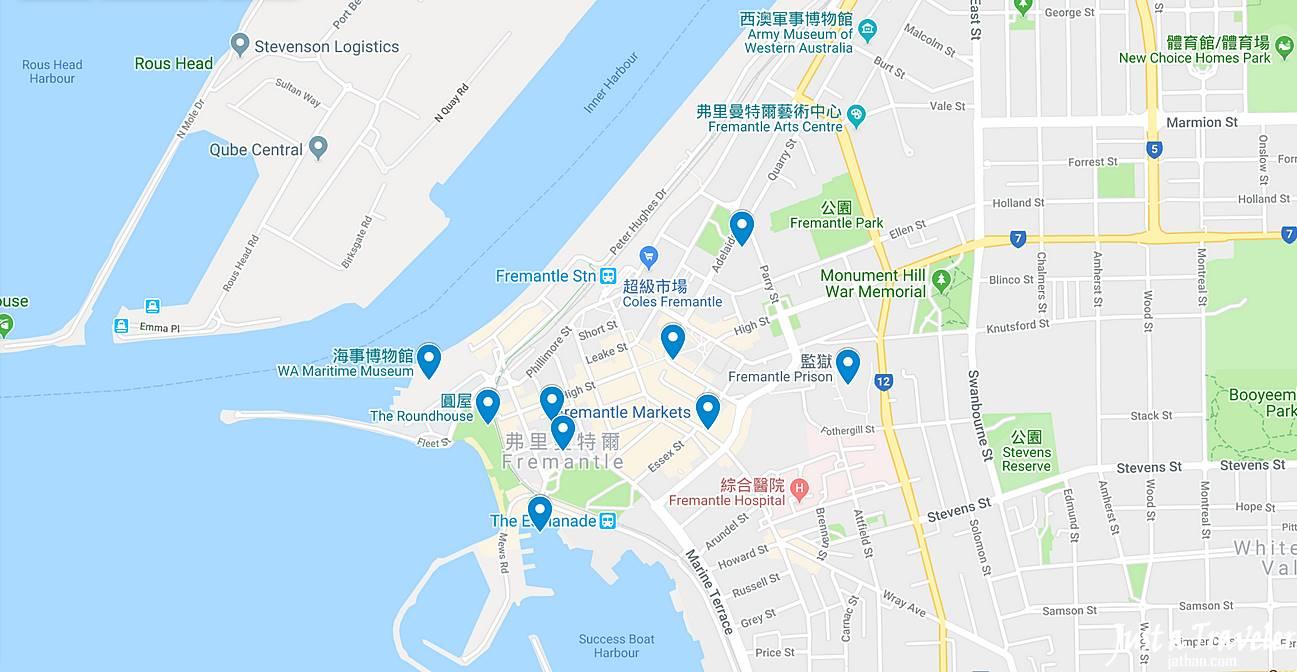 伯斯-推薦-景點-費里曼圖-Fremantle-觀光-地圖-Map-自由行-交通-必去-必玩-美食-旅遊-行程-一日遊-遊記