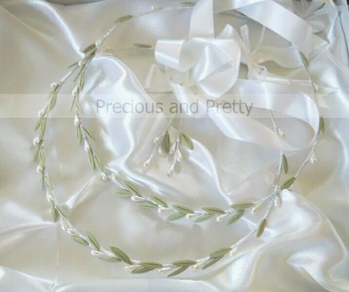 stefana olive leaves wedding crowns