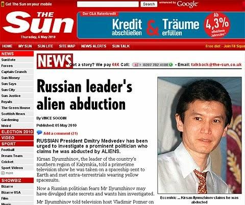 Risultati immagini per Kirsan Ilyumzhinov abduction