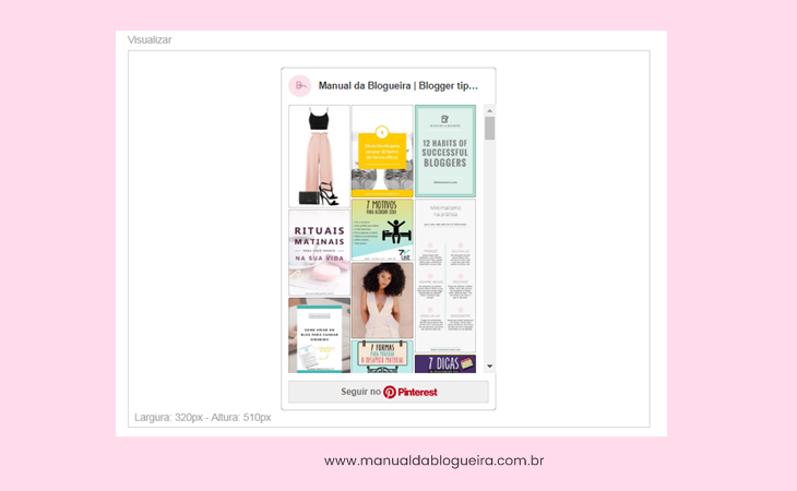 Como colocar o pinterest no blog