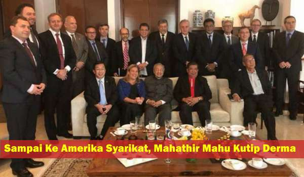 Sampai Ke Amerika Syarikat, Mahathir Mahu Kutip Derma