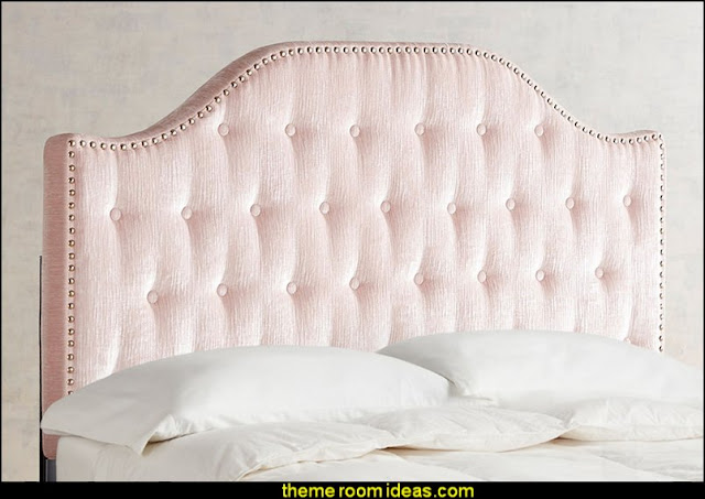 Aaliyah II Blush Tufted Queen Headboard  Blush pink decorating - blush pink decor - blush and gold decor - blush pink and gold bedroom decor -  blush pink gold baby girl nursery furniture - blush art prints - rose gold bedroom decor -  blush black bedroom decor - blush mint green decor - Blush Black Gold Glitter home decor - Blush Pink furniture