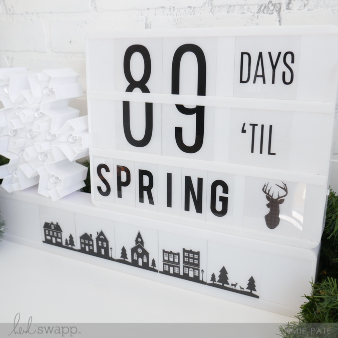 First Day of WInter Countdown Fun. Heidi Swapp Lightbox  |  @jamiepate for @heidiswapp