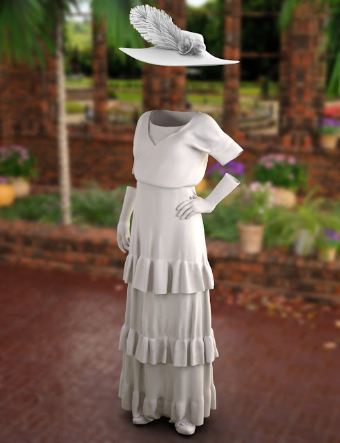 dForce Georgette Outfit for Genesis 8 Female