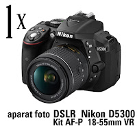 Castiga un aparat foto DSLR Nikon D5300 Kit AF-P 18-55mm VR + 5 boxe portabile Sony