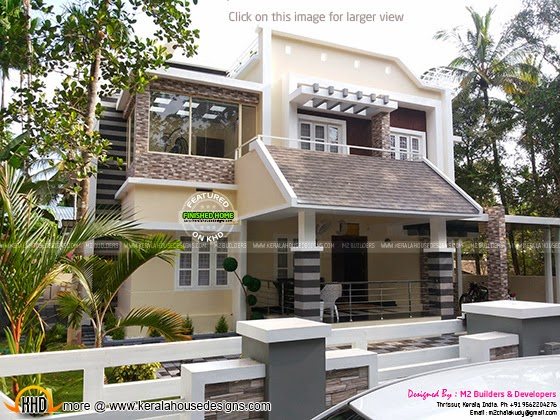 Finished house in Kerala, India