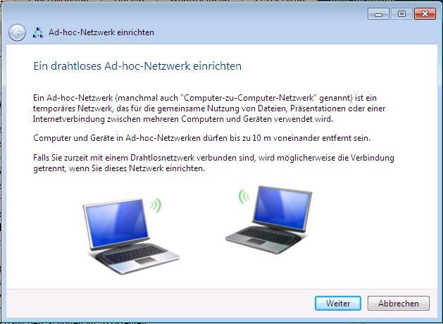 Ad Hoc Netzwerk Einrichten Windows 7 Der Technik Blog