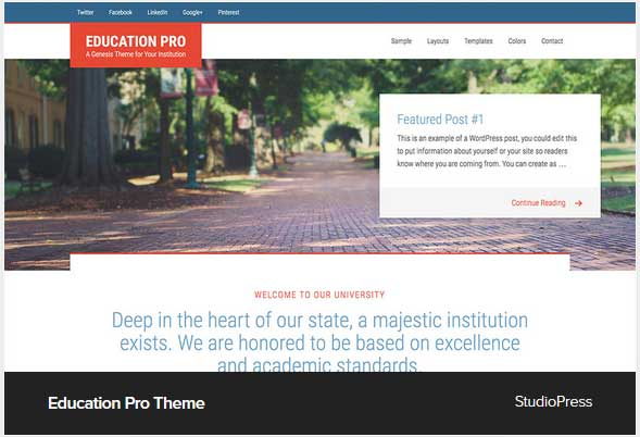 Education Pro Theme Award Winning Pro Themes for Wordpress Blog : Award Winning Blog