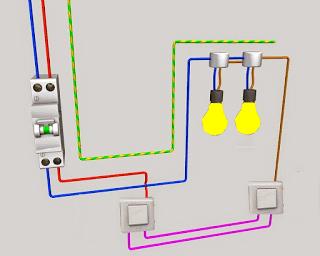 schema electrique va et vient schema va et vient cours electronique et cours electricit. Black Bedroom Furniture Sets. Home Design Ideas