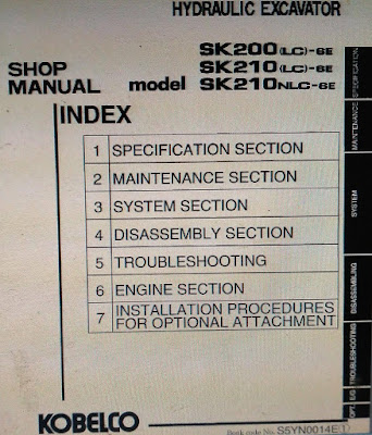 SK200-6E, Sk200LC-6E SHOP MANUAL