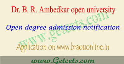 BRAOU Open degree admissions 2018,dr br ambedkar open university ug notification 2018,braou open university notification 2018-2019