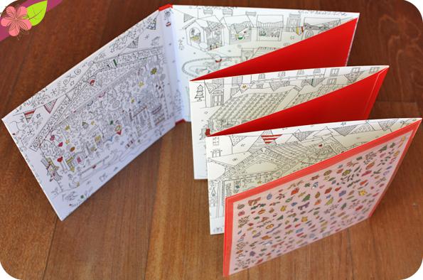 Le marché de Noël - Livre dépliant à colorier - Usborne