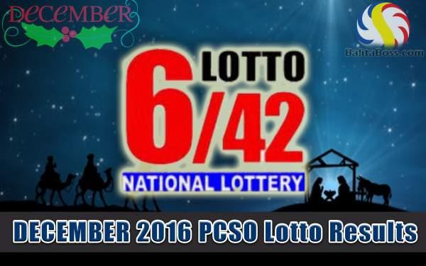 Results: December 2016 Lotto 6/42 PCSO Lotto - Balita Boss!