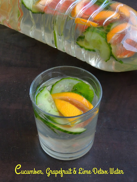 Cucumber, Grapefruit & Lime Detox Water