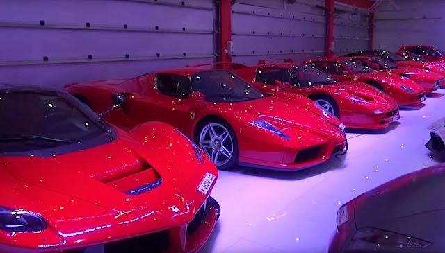 総額は数十億円!?スーパーカーだらけの巨大プライベートガレージがさらにパワーアップ!