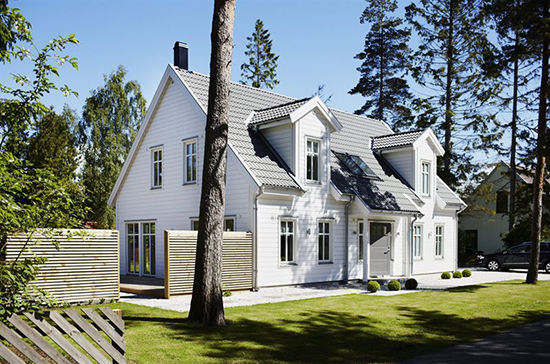 rumah kembar bergaya scandinavian