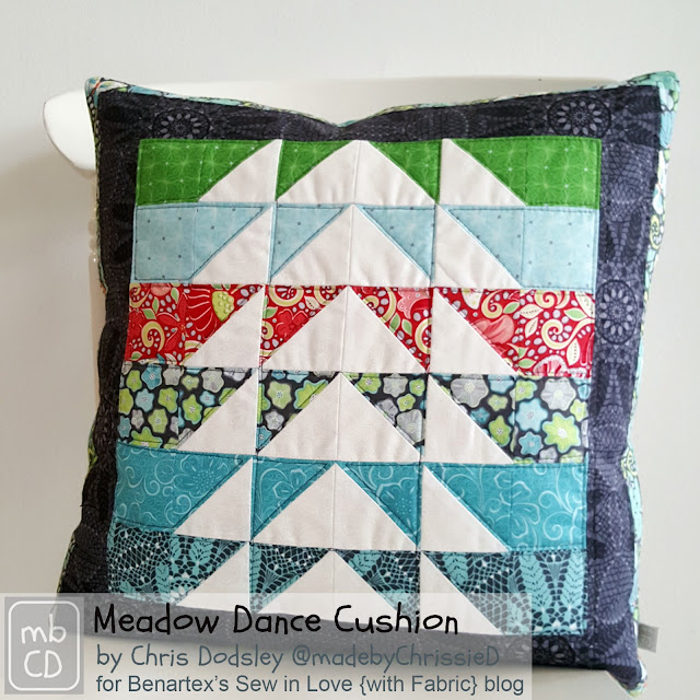HST Triangle Pillow Tute by www.madebyChrissieD.com
