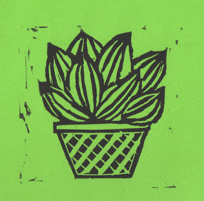 plant Lino print by we laugh indoors