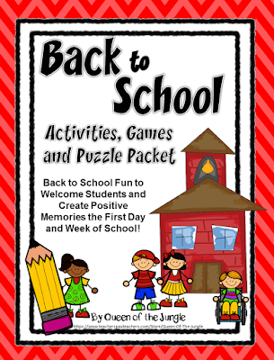 https://www.teacherspayteachers.com/Product/Back-To-School-Activities-Games-and-Puzzle-Packet-First-Days-of-School-1305652