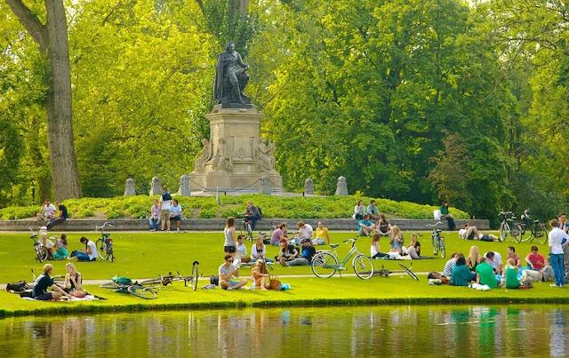 Parque Vondelpark Amsterdã