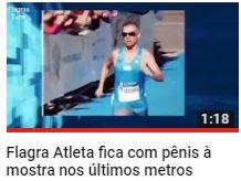 Flagra Atleta fica com pênis à mostra nos últimos metros de maratona