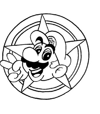 Mario Y Luigi Para Dibujar Pintar Colorear Imprimir Recortar